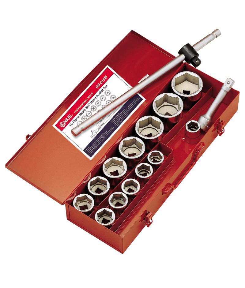 天赋工具15件套公制重型套筒扳手组GS-615M